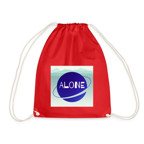 Alone planet with background - Drawstring Bag