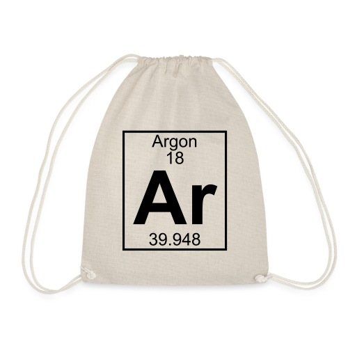 Argon (Ar) (element 18) - Drawstring Bag