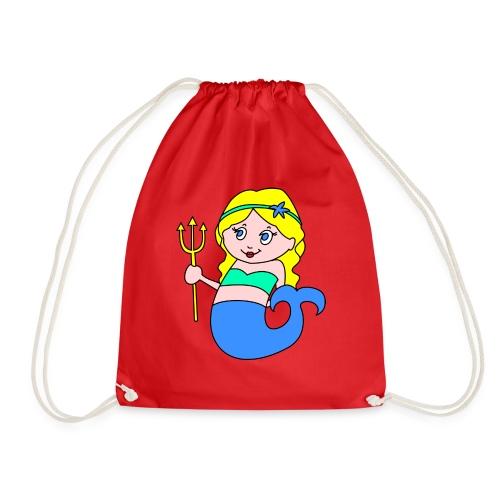 little mermaid blonde - Drawstring Bag