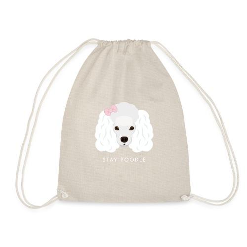 Poodle White - Sacca sportiva