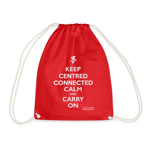 KEEP CENTRED CONNECTED CALM T SHIRT AIKIDO ONLINE - Drawstring Bag