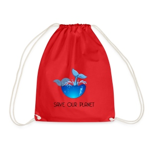 Save our planet - Drawstring Bag