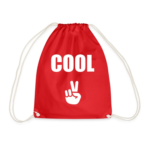 Cool with Peace Sign - Drawstring Bag