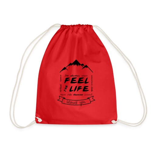 Feel the Life around you - Negro - Mochila saco