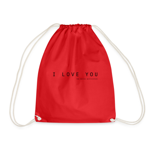 I Love You by The Nerved Corporation - Drawstring Bag