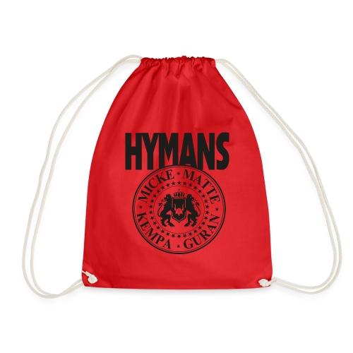Hymans Merch Svart Tryck - Gymnastikpåse