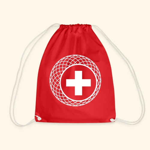 Schweiz ☆ T-Shirt ☆ geometric ☆ Kreuz - Turnbeutel