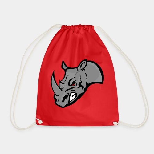 Rhino Mascot design - Drawstring Bag