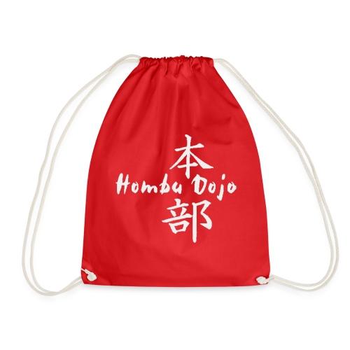 HombuDojo logo wt trans hr - Drawstring Bag