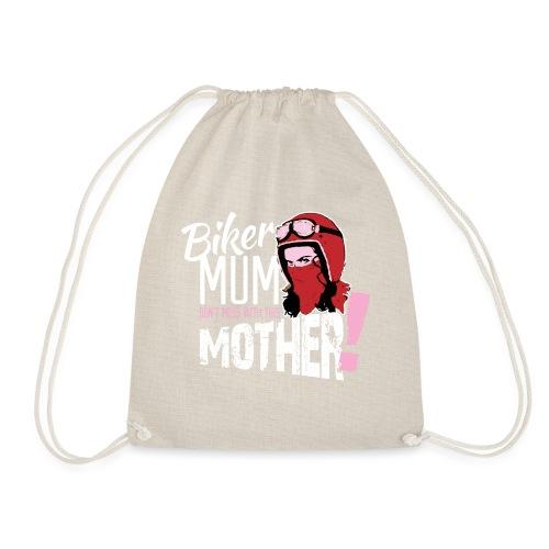 Biker Mum T-Shirt - Drawstring Bag