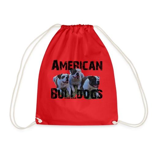 Bulldoge,Hundekopf,AmericanBulldog,Bulldogge,Hunde - Turnbeutel