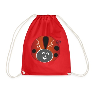 Ladybug - Symbols of Happiness - Drawstring Bag