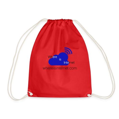 Where is the Internet - Drawstring Bag