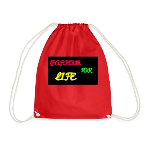 Parkour for Life graffiti merchandise - Drawstring Bag