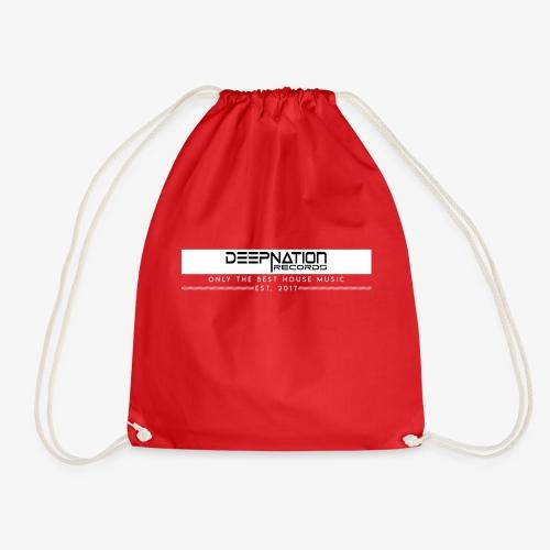 White Black - Drawstring Bag