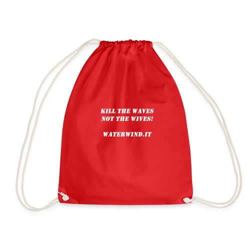 Kill the waves bianco - Drawstring Bag