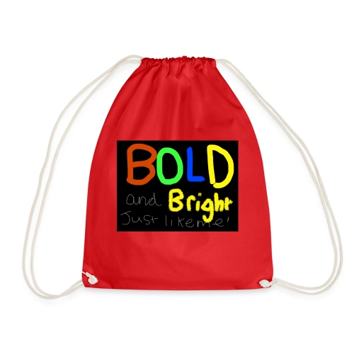 Bold and bright - Drawstring Bag