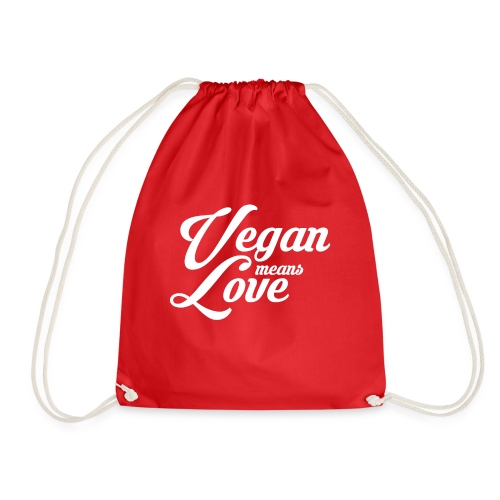 Vegan means love - Design 2018 - Turnbeutel