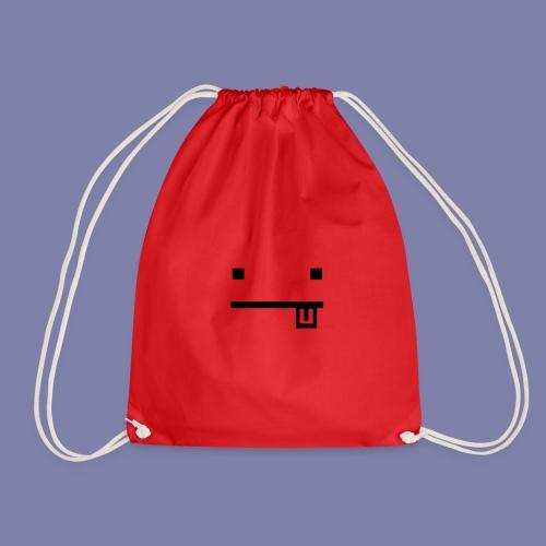 Blocky Tongue Face - Drawstring Bag