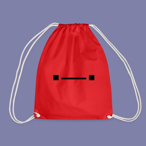 Middle Blocky Face - Drawstring Bag