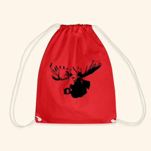 elch - elk - moose - jagd - jäger - Turnbeutel