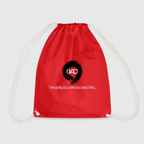 Takemusu Aikido Motril - Black Enso - Drawstring Bag