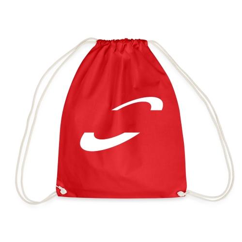 Planet Cycling Icon White - Drawstring Bag