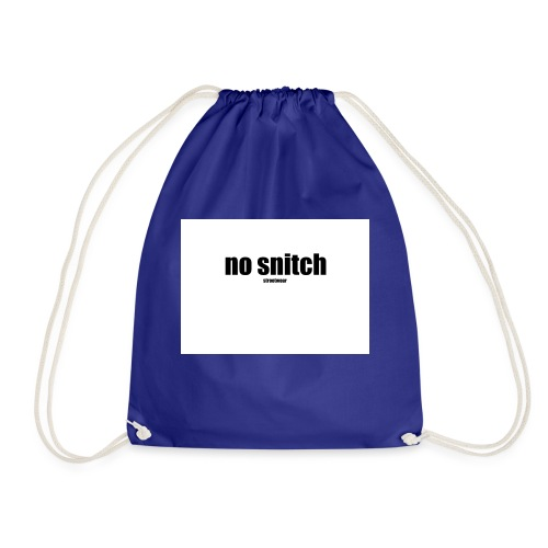 no snitch - Sacca sportiva
