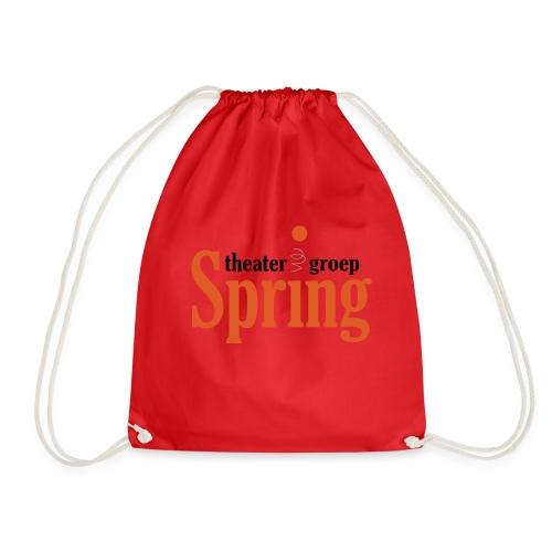 Gymtas met logo van Theatergroep Spring - Gymtas