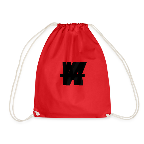 (Limited Edition) AWM Corner Logo Blackout - Drawstring Bag