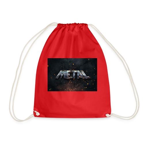 PixelMustache Metal Text Style1 - Drawstring Bag