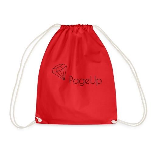 PageUp on logo snapback - Drawstring Bag