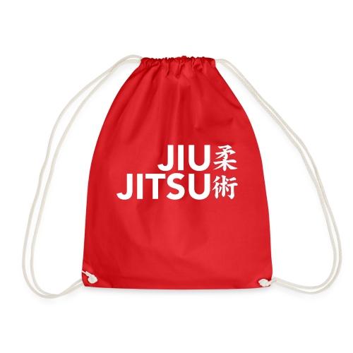 jiujitsu tekst met tekens wit - Gymtas