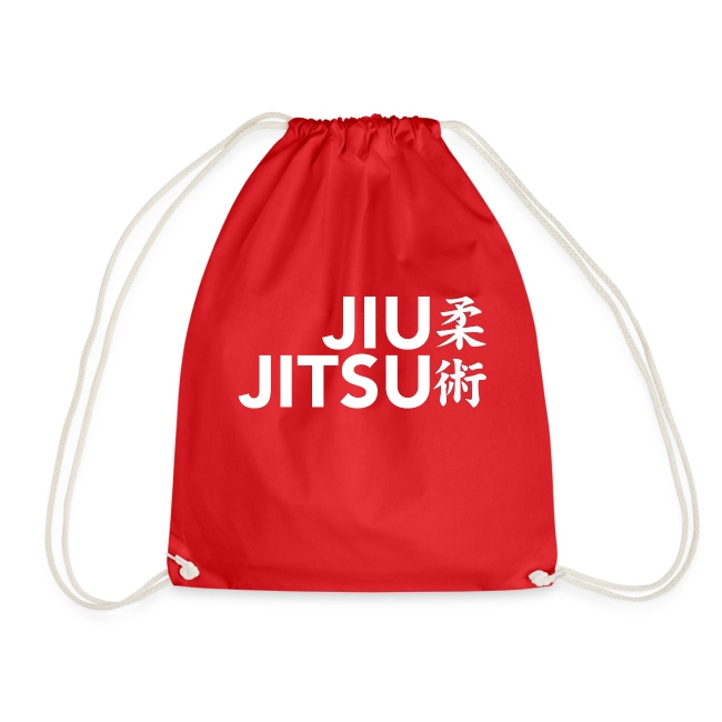 jiujitsu tekst met tekens wit