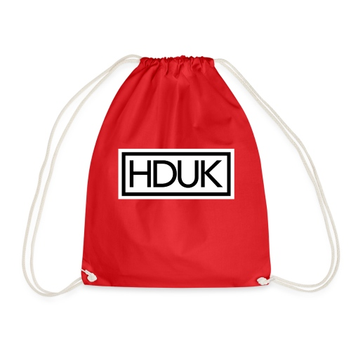 HDUK Black Logo with Border - Drawstring Bag