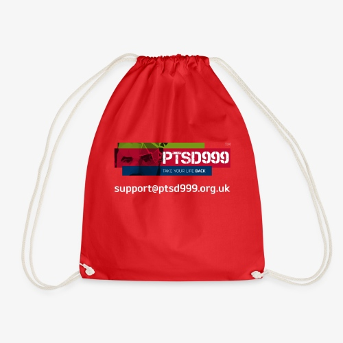 PTSD999 Logo 3 - Drawstring Bag