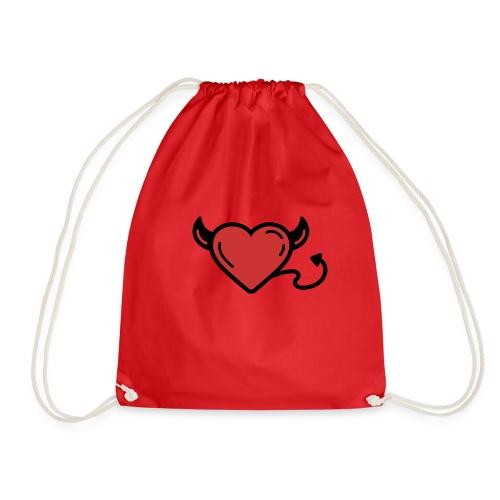Printful heart devil - Sac de sport léger