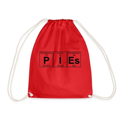 P-I-Es (pies) - Full - Drawstring Bag