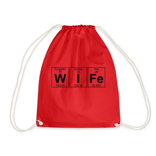 W-I-Fe (wife) - Drawstring Bag