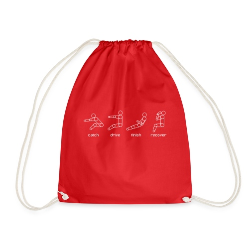 catch drive finish recover - Drawstring Bag