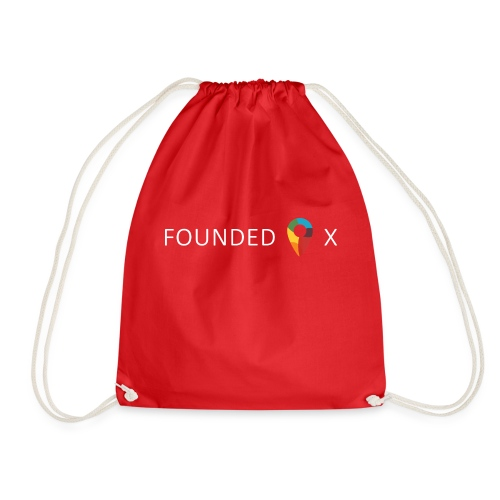 FoundedX logo white png - Drawstring Bag