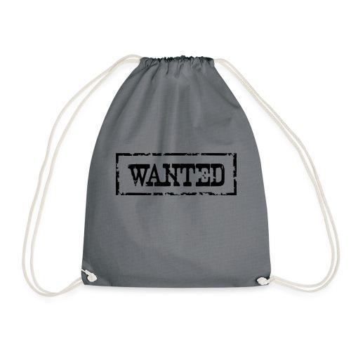 Wanted Frame Rand Rahmen Polizei Police - Turnbeutel