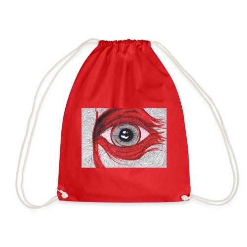Auge - hypnotischer Blick - Turnbeutel
