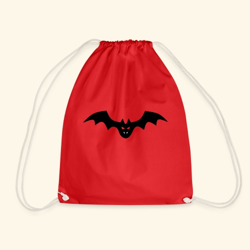 Spooky Bat with Fangs - Drawstring Bag