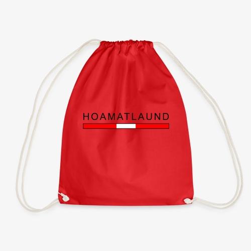 Hoamat mit österreich flagge - Turnbeutel