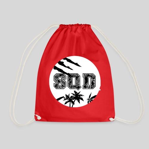 SQD tshirt logo wit - Gymtas