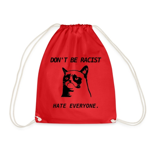 Grumpy Cat T-Shirt - Drawstring Bag