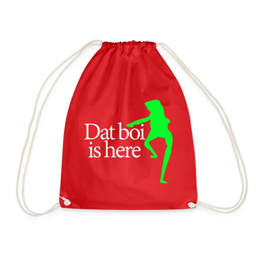 Dat boi shirt white writing - men - Drawstring Bag