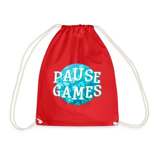 Pause Games New Design Blue - Drawstring Bag