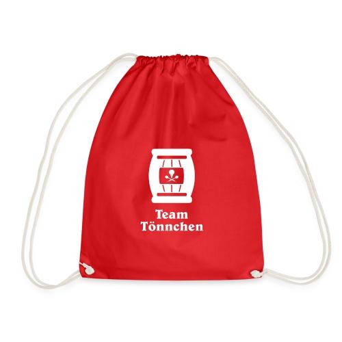 Team Tönnchen Logo weiß mit Typo - Turnbeutel